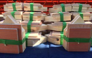 Turkstra Lumber Dundas Building Bird houses for Children in the Community.