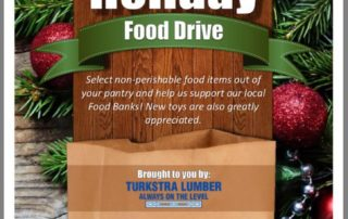 Annual Holiday Food Drive for the Community Turkstra Lumber Dundas