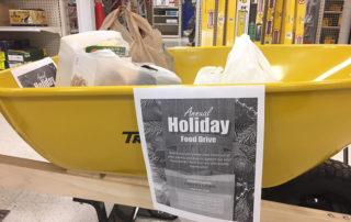 Annual Holiday Food Drive Community Dundas Turkstra Dundas