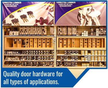 Turkstra Door Hardware - We have a wide variety of door hardware from many leading manufacturers in our showrooms. Visit our designer showcase at our Stoney Creek location to touch and feel the hardware that may be right for you.