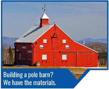 Turkstra Pole Barns - We carry all you need to build you pole barn whether its for storage, living or business. Pole barn supplies for agricultural/ farming, industrial, commercial or residential.